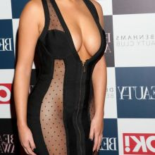 Demi Rose braless pantyless in see through dress on Beauty Awards in London 18x UHQ photos