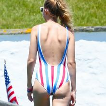 Gigi Hadid cameltoe in Stars and Striped swimsuit at Taylors 4th of July party 30x UHQ photos