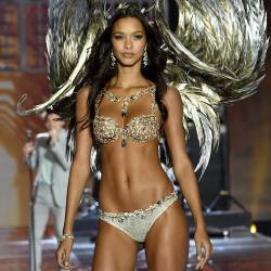 Lais Ribeiro sexy see through lingerie cameltoe 2017 Victoria's Secret Fashion Show 19x MixQ photos