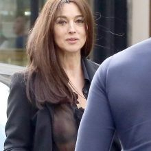 Monica Bellucci see-through blouse in Paris 5x MixQ