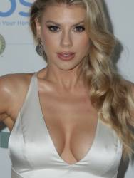 Charlotte McKinney braless big boobs cleavage