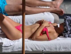 Hailee Steinfeld hot in pink bikini