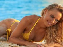 Caroline Wozniacki - Sports Illustrated Swimsuit 2017 see through tiny bikini 26x HQ photos