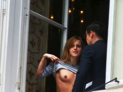 Emma Watson topless show tits HQ