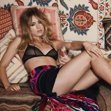 Suki Waterhouse topless see through lingerie photo shoot for Vogue 2015 September 9x HQ