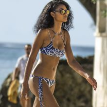 Chanel Iman sexy bikini candids on the beach in Barbados 31x HQ photos