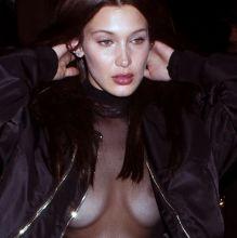 Bella Hadid braless in see through dress at Kinugawa Restaurant 58x HQ photos
