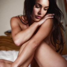 Megan Fox young and naked on the bed nude photo shoot UHQ