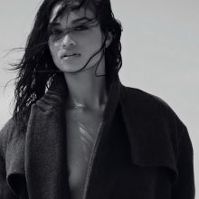 Shanina Shaik topless Elle 2014 July 6x HQ