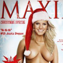 Jessica Simpson nude MAXIM magazines cover UHQ