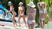 Jessica Alba wearing sexy bikini on the beach in the Caribbean 91x HQ