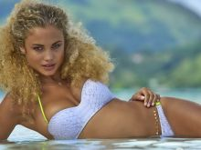 Rose Bertram nude naked topless bodypaint see through Sports Illustrated sexy Swimsuit 2016 photo shoot 30x HQ