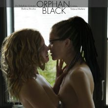 Tatiana Maslany and Evelyne Brochu uncensored lesbian sex scene from Orphan Black UHQ