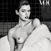 Stella Maxwell topless in Vogue magazine 2016 August 5x MQ photos