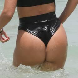 Kourtney Kardashian with Hailey Baldwin sexy bikinis at Miami Beach 358x HQ photos