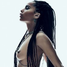 Zoe Kravitz topless in Flaunt Magazine 2015 April 6x HQ