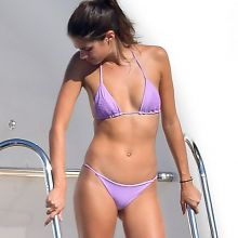 Sara Sampaio sexy bikini candids on the yacht in St Tropez 8x HQ photos
