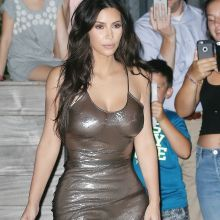 Kim Kardashian braless see through top at the Madison Square Garden New York 106x HQ photos ADDS