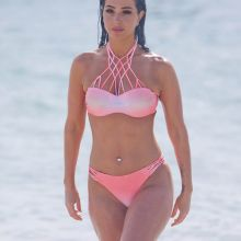 Tulisa Contostavlos wearing sexy bikini on the beach 42x HQ