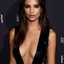 Emily Ratajkowski cleavage boobs trying to pop out - Harper's Bazaar Celebrates 'ICONS By Carine Roitfeld' in NYC 27x HQ-UHQ photos