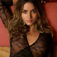 Ana De Armas pokies in see through bodysuit for GQ magazine 2016 August 7x UHQ photos