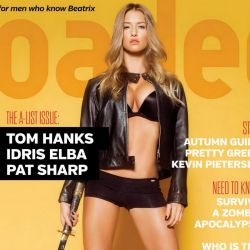 Danica Thrall topless Loaded magazine 2013 November 11x HQ
