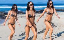 Megan Fox wearing hot bikini on the beach in Hawaii 52x HQ