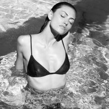 Phoebe Tonkin black lingerie photo shoot for Russh Magazine 2015 October 12x HQ