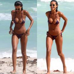 Lais Ribeiro sexy bikini at the beach in Miami Beach 54x HQ photos