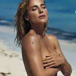 Elsa Pataky topless sexy swimsuit photoshoot for Elle magazine 20x HQ photos