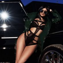 Kylie Jenner in see through bodysuit Instagram 10x HQ photos