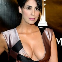 Sarah Silverman cleavage on Hollywood Foreign Press Association Annual Grants Banquet in NYC 27x UHQ