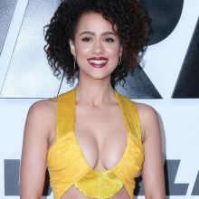 Nathalie Emmanuel cleavage Furious 7 premiere in Hollywood 18x HQ