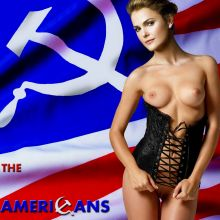 Keri Russell nude on The Americans poster UHQ