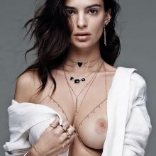 Emily Ratajkowski uncensored topless Jacquie Aiche photo shoot 3x HQ photos