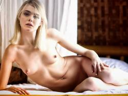 Elle Fanning nude for Vogue Paris photo shoot HQ