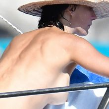 Sophie Marceau topless big hard nipple on the yacht in Capri 38x HQ photos
