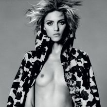 Anja Rubik topless for i-D Magazine photo shoot 7x HQ