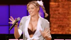 Kate Upton, Chrissy Teigen - Lip Sync Battle S03 E13 1080p cleavage boobs trying to pop out upskirt spread legs boobs bouncing