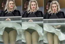 Ashley Roberts upskirt at The Prince's Countryside Fund Raceday at Ascot Racecourse 5x HQ