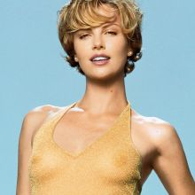 Charlize Theron see through photo shoot for GQ magazine 10x HQ