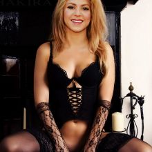 Shakira in hot lingerie spread legs without panties UHQ