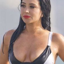 Tulisa Contostavlos nip slip in wet bikini on the beach in Dubai 63x UHQ photos