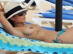 Roxanne Pallett topless on the beach in Cyprus 23x HQ photos