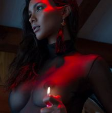 Lais Ribeiro topless see through by Jurij Treskow HQ photo