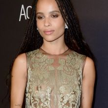 Zoe Kravitz hard nipples in see throug dress on InStyle And Warner Bros. Golden Globe Awards Post-Party in Beverly Hills 8 UHQ photos