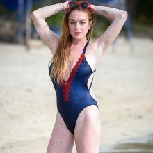 Lindsay Lohan sexy swimsuit photo shoot on the beach in Mauritius 13x UHQ photos
