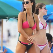 Julia Pereira wearing sexy bikini on the beach in Miami 15x HQ