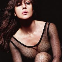 Monica Bellucci topless see through photo shoot for Lui Magazine 2015 November 6x HQ