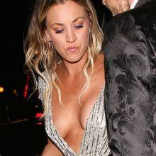 Kaley Cuoco braless big cleavage on Warner Bros. Pictures & InStyle's 18th Annual Post-Golden Globes Party 37x HQ photos